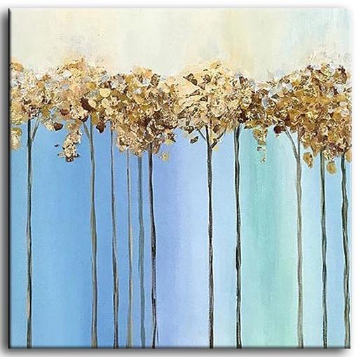 Abstracte Schilderijen Going Home Goud 80x80cm