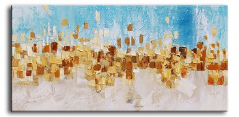 abstract schilderij goud