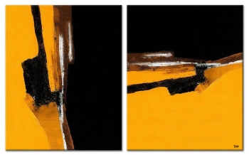 Yellow and Black 2x 80x100 cm